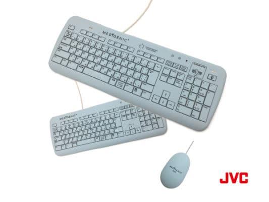 JVC製 防水型キーボード・マウスMEDIGENIC メディジェニック