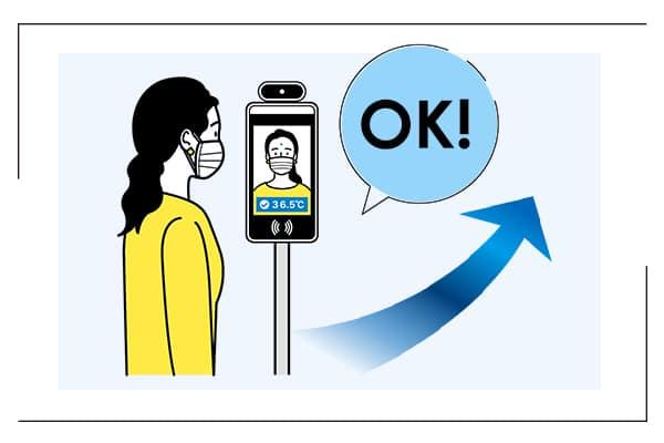 「検温安全ゲート」非接触検温のイメージ画像