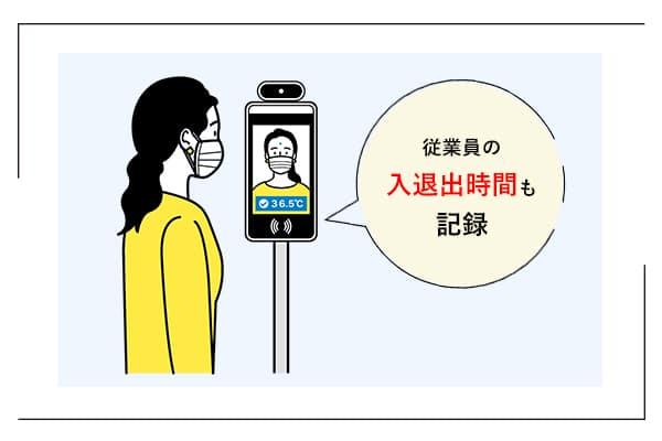 「検温安全ゲート」マスク着用検知と入退出・勤怠管理のイメージ画像